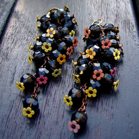 **SALE** Earrings - enamel flowers