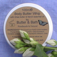 Body Butter Whip with Pure Neroli (Orange Blossom), Natural Body Lotion 100ml