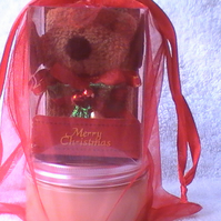 Body Butter Christmas Gift Set with Dog Face Cloth