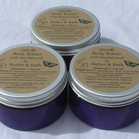 Natural Handmade Body Butter with Pure Sandalwood, Body Lotion, Hand Cream
