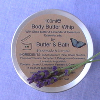 Lavender & Geranium Body Butter Natural and Handmade Body Lotion
