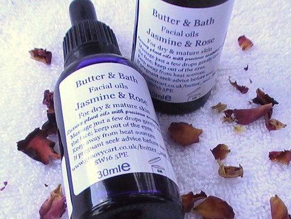 Mature Skin Natural Facial Oil with Jasmine and Rose 30ml, 1floz