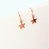 Gold Star Earrings, Tiny 14ct Gold Filled Earrings, Dainty Jewellery for Her