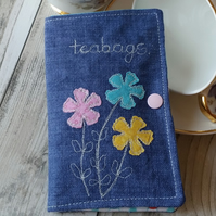 Teabag Wallet, Tea bag holder, Travel wallet, Linen wallet