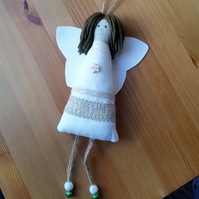 Christmas Angel Holly, Rustic Decoration, Gift