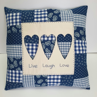 Sewing Pattern - Rustic Heart Applique Cushion Cover
