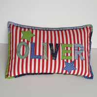 Personalised Cushion, Child's Applique Cushion, Personalised Gift