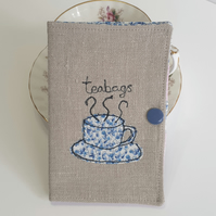 Teabag Holder, Teabag Wallet, Linen Wallet