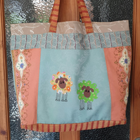 Recycled Tote Bag, Market Bag, Beach Bag