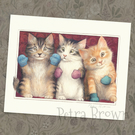 Three Little Kittens, signed print