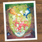 The Birth of Droo Goo Roo - signed print