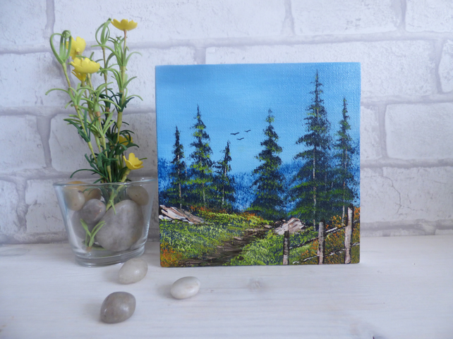 Original Oil Painting 'Evergreen Path'