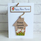 'Happy New Home', Home Sweet Home, Detachable keepsake Heart, Greeting Card