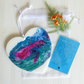 Hanging Heart, Resin Pour, With Keepsake Gift, Wallet Inspirational Card, (b)