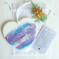 Hanging Heart, Resin Pour, With Keepsake Gift, Wallet Inspirational Card, (d)