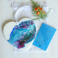 Hanging Heart, Resin Pour, With Keepsake Gift, Wallet Inspirational Card, (a)