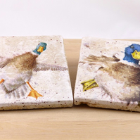 Natural Stone Duck Coasters