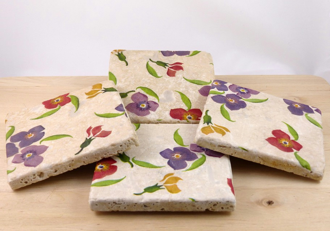 Set of 4 Natural Stone Coasters