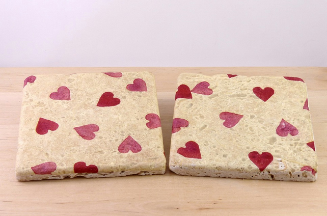 Natural Stone Heart Coasters