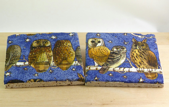 Natural Stone 'Night Owls' Coasters