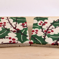 Marble 'Holly'Coasters