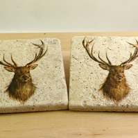 Marble 'Stags' Coasters
