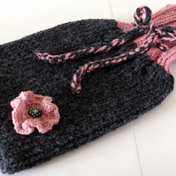 Hand Knitted Hot Water Bottle Cosy