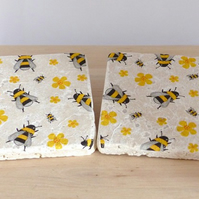 Natural Stone 'Bee'Coasters