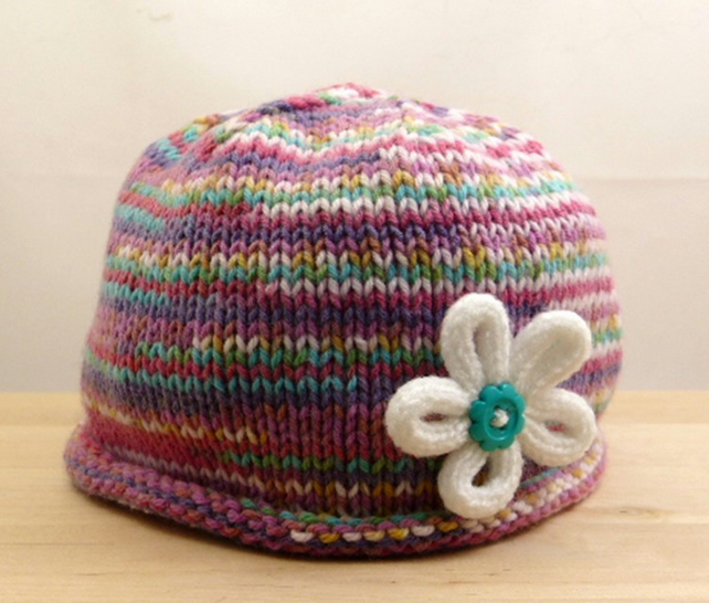 Hand Knitted Baby Hat - Folksy f9c09e8376d