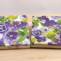 Marble 'Pansy' Coasters