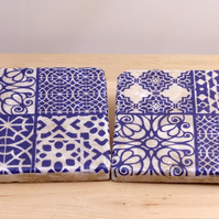 Marble 'Blue Tile' Coasters