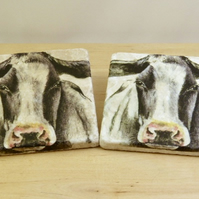 Marble Cow Coasters