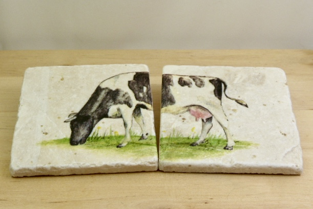 Marble 'Cow' Coasters