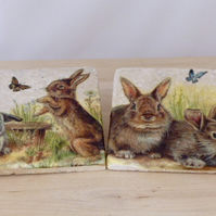 Marble 'Rabbit' Coasters