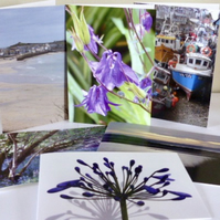 "Any 3 - 7"" x 5"" or 6"" Square Photographic Cards"