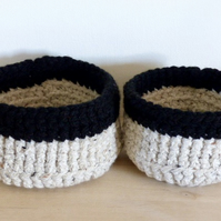 Pair of Crocheted Baskets