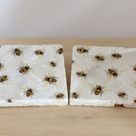 Marble 'Bee' Coasters