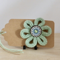 French Knitted Brooch