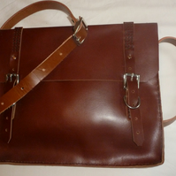 Reduced: Large Nut brown Riviera  Satchel
