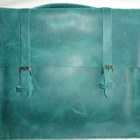 SALE! SALE!  Time to let go of the old stock.  Dark Green Satchel Vintage Style