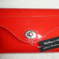 SALE!SALE! Red patent leather clutch