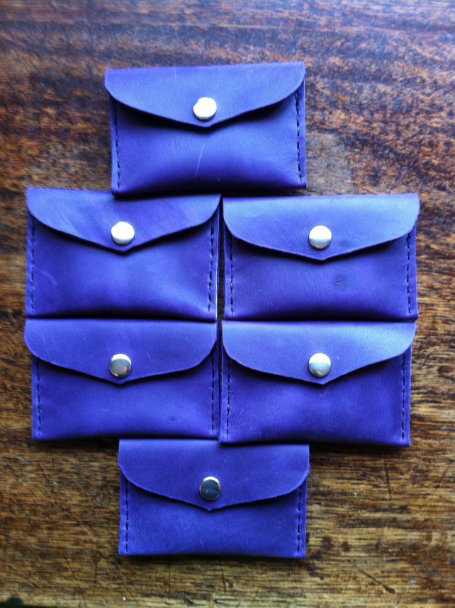 Purple Front pocket slimline wallet