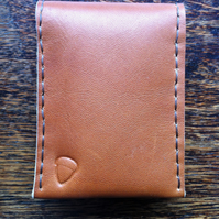 Slimline narrow leather card and note wallet