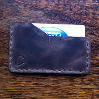 Slimline leather front pocket back pocket card wallet