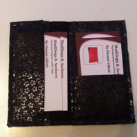 Slimline leather card holder