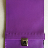 Purple leather slimline pencil