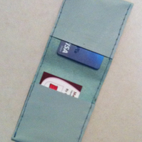 Summertime pale blue card holder wallet