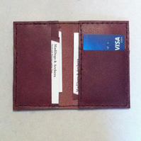 Slimline claret card holder wallet
