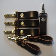 Brown Leather Belt Strap and Clip