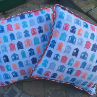 Beach Hut themed Cushion cover